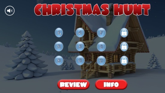 Christmas Hunt - Start Screen
