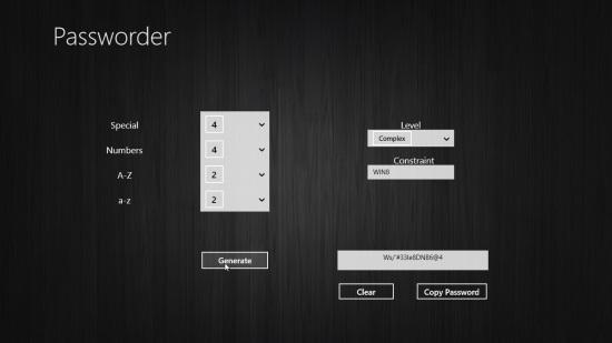 Pasworder - Generating Password