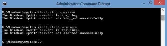 Turning On Windows Update Service