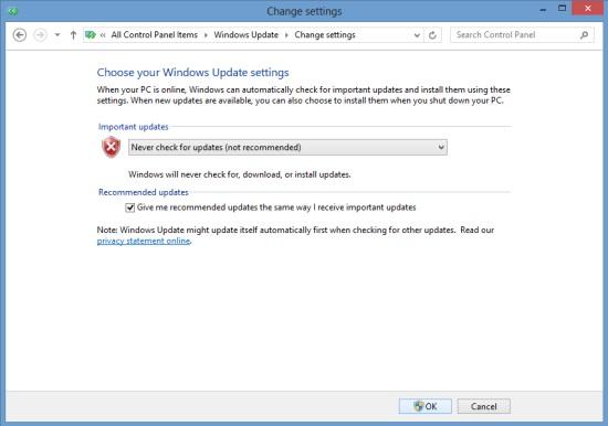 Manually Turning Off Windows Updates