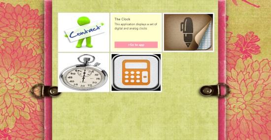 5 Apps In 1- Main menu screen