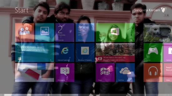 Customized Windows 8 Start Screen