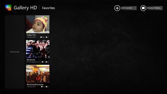 Gallery HD - Start Screen