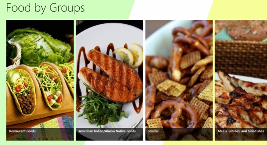 Nutrition Manager- Main menu