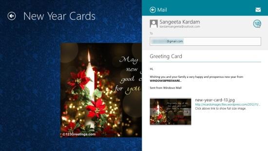 Sending eCard