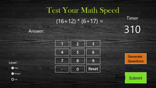 Test Your Maths Speed