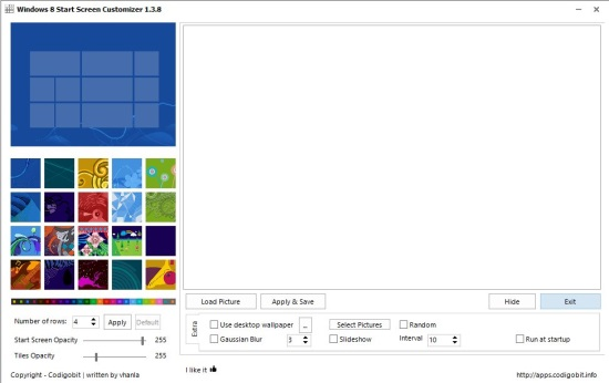 Win8StartScreenCustomizer