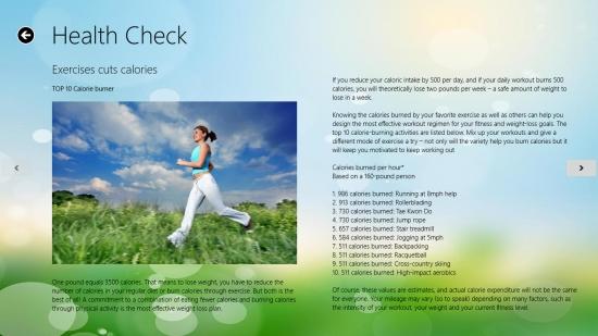 CaloriesCalculator - Exercises Cuts Calories category