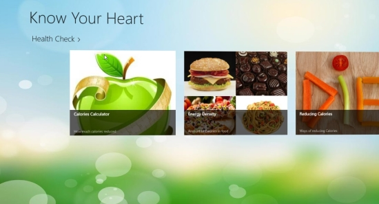 CaloriesCalculator - Main screen