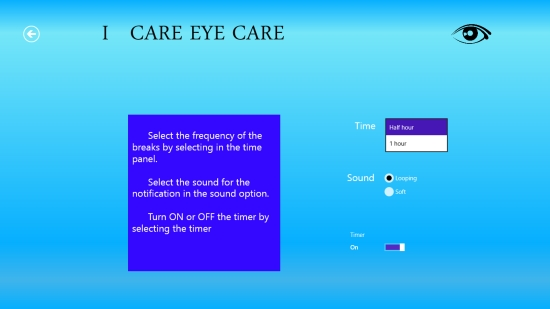 I Care Eye Care - Setting timer