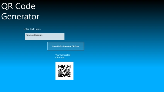 QR Code Maker - Main screen
