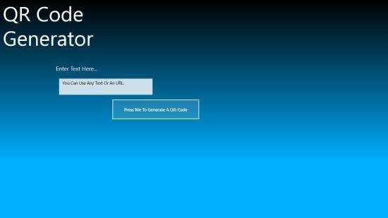 QR Code Maker - Start screen