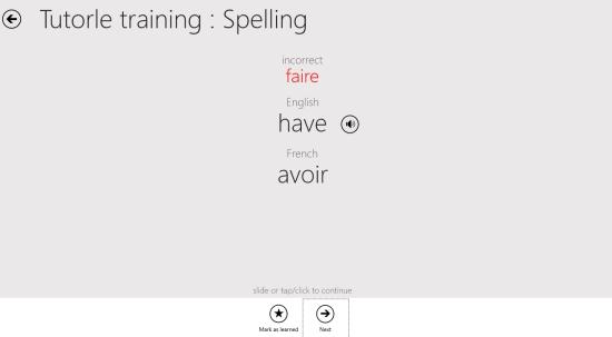 Tutorle- Spelling