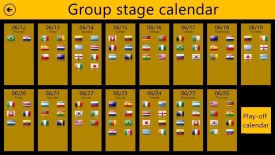 World Cup 2014 Free- Calendars