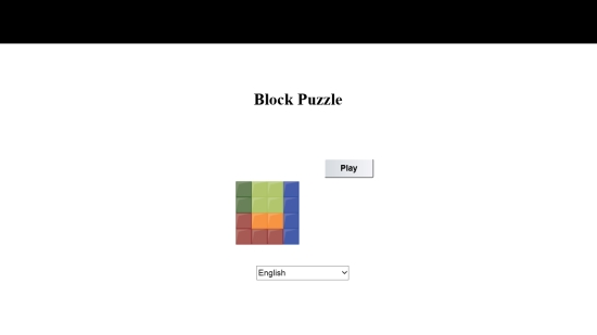 Block Puzzle Free - Start screen