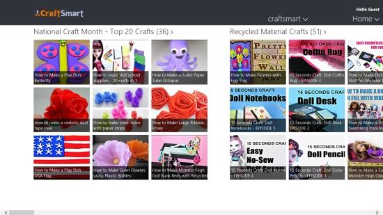 CraftSmart - Home screen