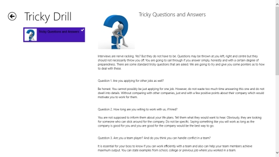 Interview Guidelines - Tricky questions and answers