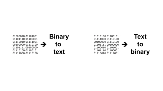 My Binary Translator - Main screen