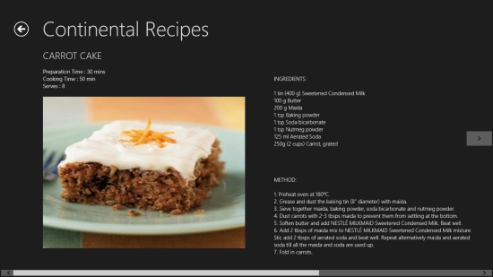 Windows 8 multi cuisine recipes app recipe palette windows 8 freeware recipe palette recipe details forumfinder Gallery