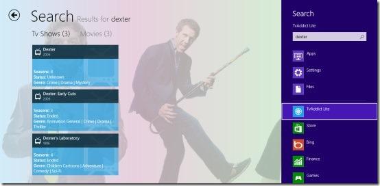 TvAddict Lite- Search