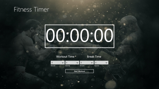 FitnessTimer - Main screen