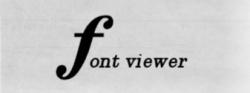 Font Viewer Featured