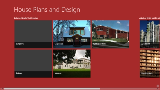 House Plans and Design - Start screen