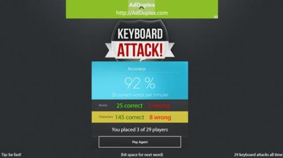 Keyboard Attack - Scores