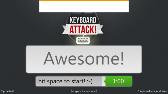 Keyboard Attack - Second screen
