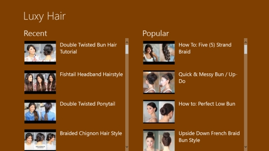 Luxy Hair - Main screen