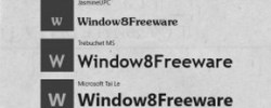 Windows 8 Font Viewer