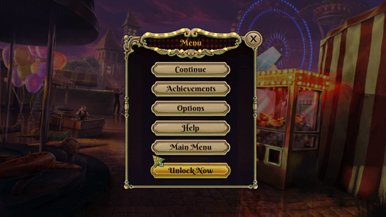 Dark Arcana: The Carnival - Pause Menu