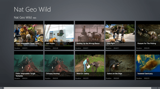 Nat Geo Wild - Interface