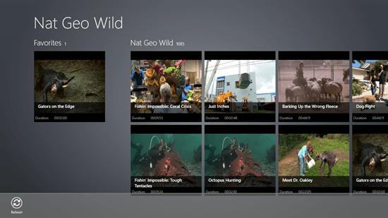 Nat Geo Wild - Main Screen