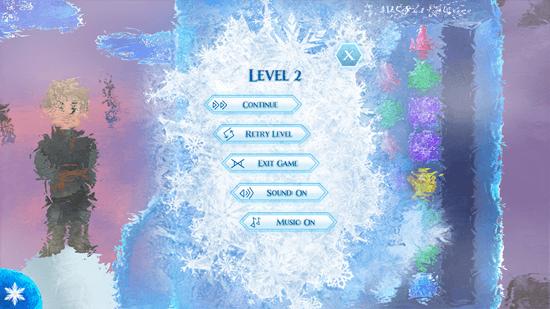 Frozen Free Fall - Game's Menu