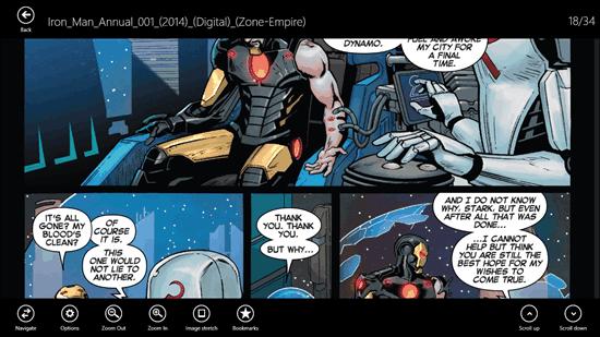Comicana Comic Navigation