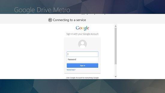 Google Drive Metro login