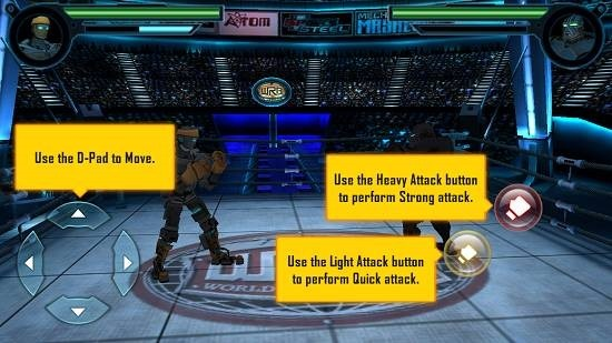 Real Steel World Robot Boxing main screen