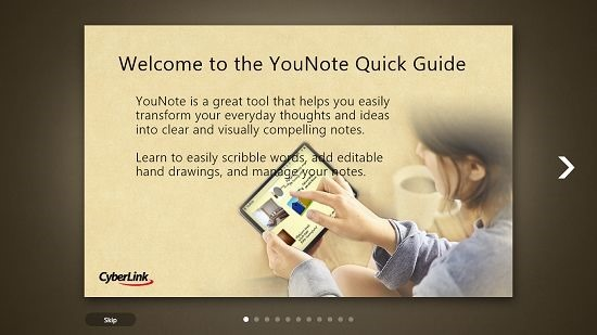 YouNote Main Screen