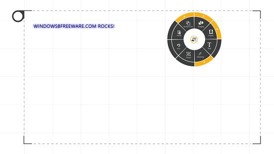 circular menu presentation next