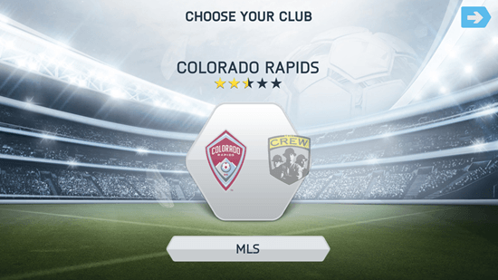 club and league selection