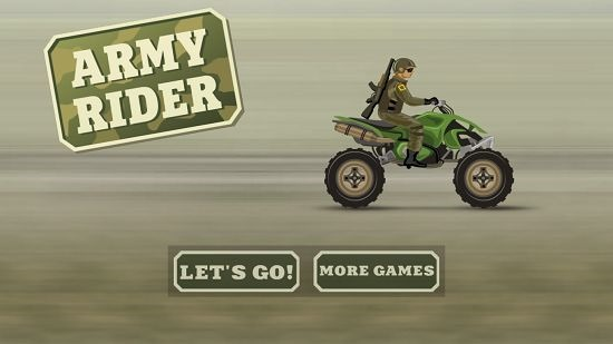 Army Rider main menu