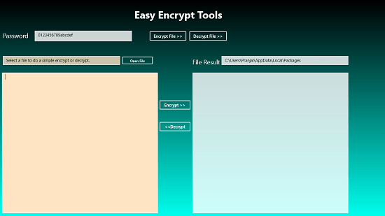 Easy Encrypt Tools