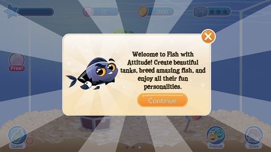 Fish With Attitude Main Screen