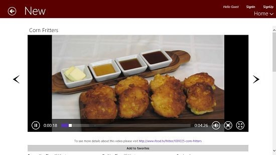 Free 100,000  recipe video