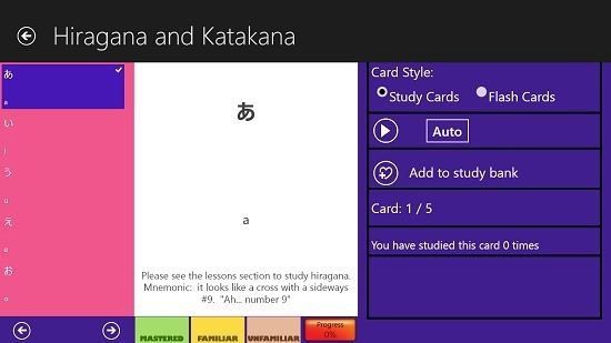 Hiragana And Katakana Study cards