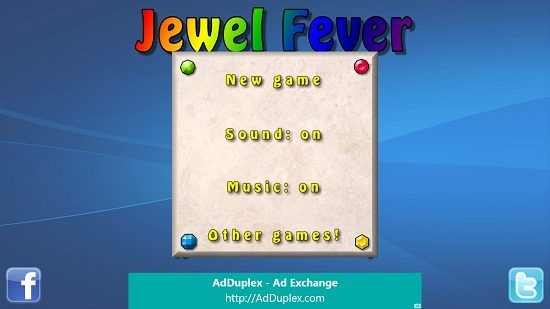 Jewel Fever Main Screen