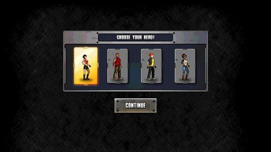 Pocket Avenger Main Screen Hero Selection