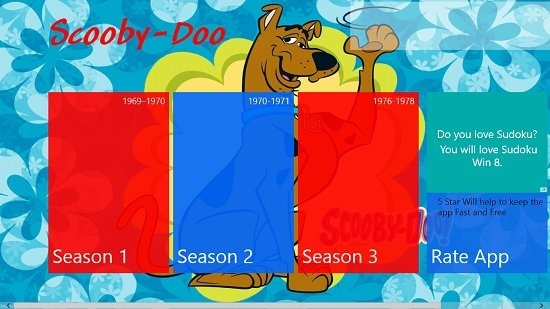 Scooby Doo Main Screen