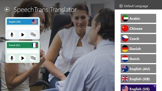 SpeechTrans Translator Change Recognition or Translation Language